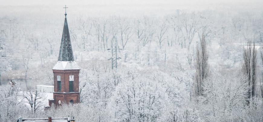 panorama kościoła w Podjuchach...(foto. Daniel Reszke)